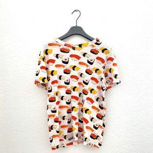 Au Jour Le Jour Sushi print T shirt